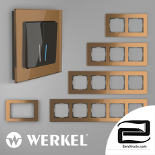 Glass frames for sockets and switches Werkel Favorit (bronze)