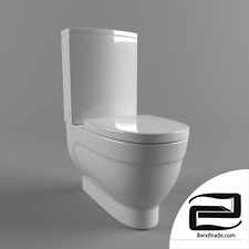 Toilet bowl-compact floor Vitra Form 500 9730V003-1165