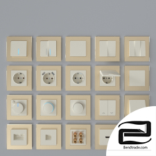 Werkel sockets and switches (ivory)