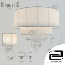 Chandelier and sconce Ideal Lux Opera