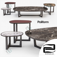 Poliform coffee tables set table
