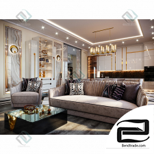 GoT (Gold of Time) luxury living room