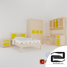 children's furniture 3D Model id 17794