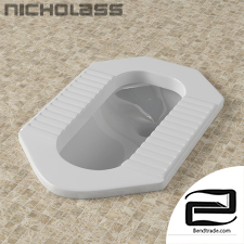 Squat toilet 3D Model id 17225