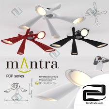 Ceiling lamp mantra pop x4