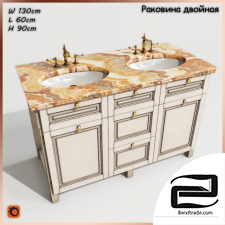 Double sink with Cabinet