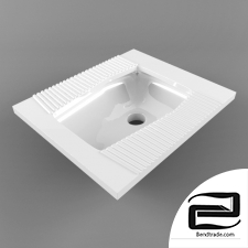 Squat Toilet 3D Model id 15091