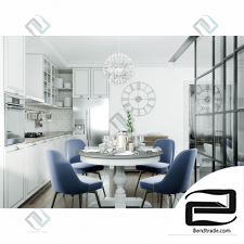 LR and Kitchen  3D Model id 789