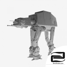 Toy tank from Star Wars