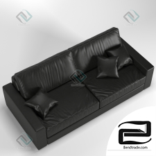 Leather Sofa 3D Model id 8767