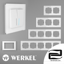 Glass frames for sockets and switches Werkel Favorit (white)