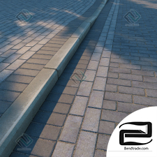 Materials Paving slabs and curbs