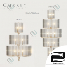 Chandelier Currey & of compamy BEVILACQUA Medium Large chandeliers