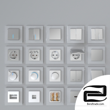 Werkel sockets and switches (silver)