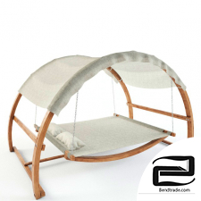 Covered Canopy Swing Bed