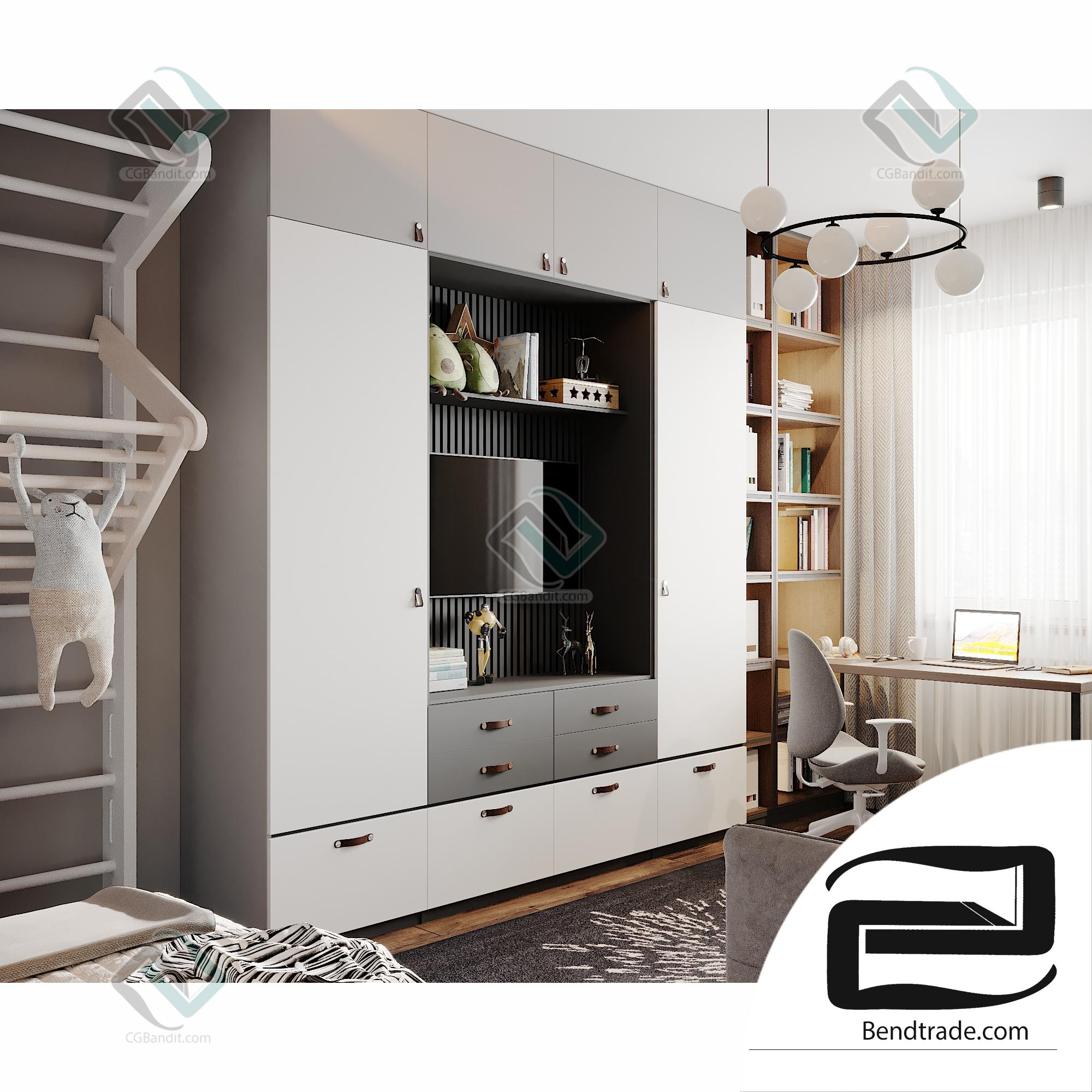 Teenager room Bendtrade 3D scene interior corona render