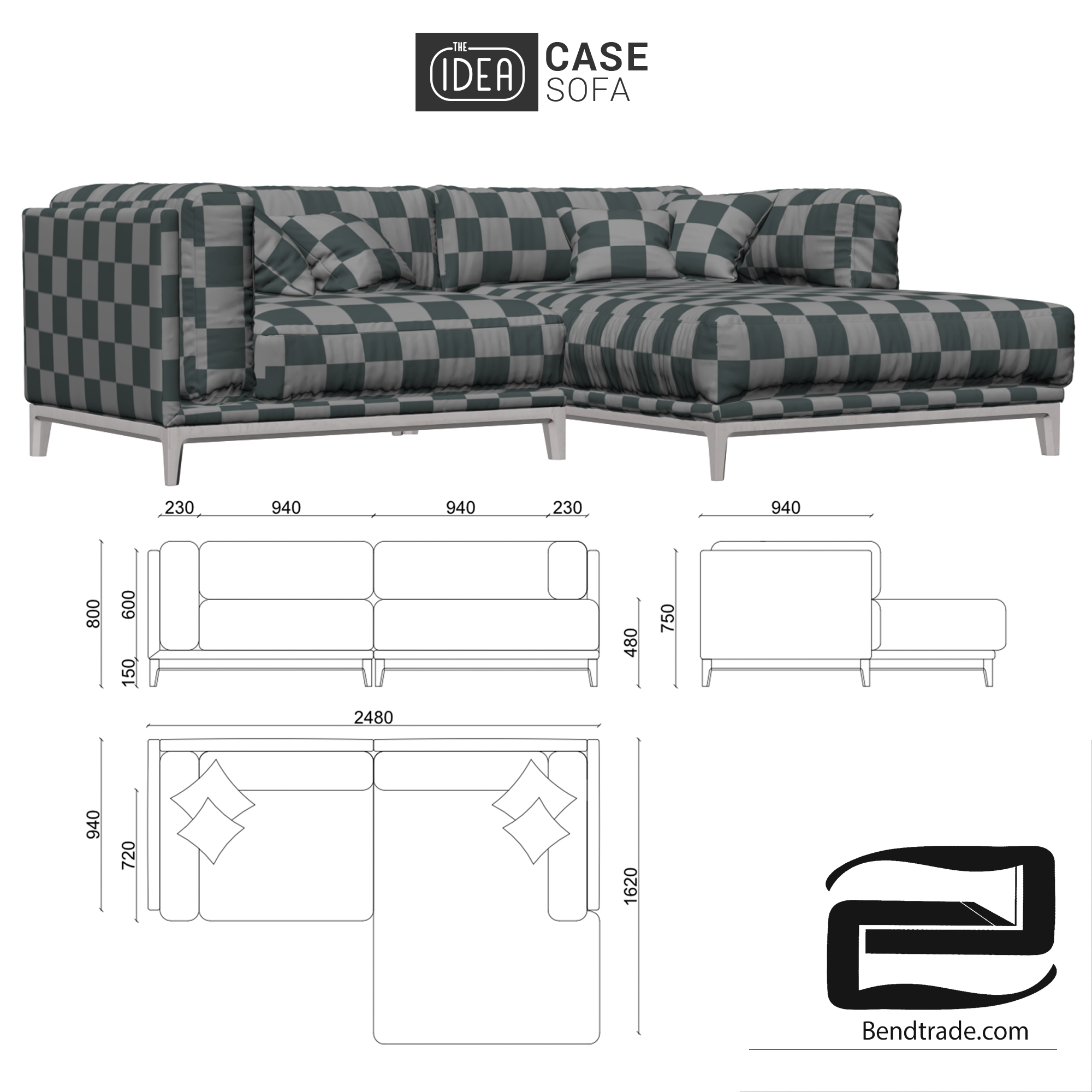 The IDEA of a Modular Sofa CASE (art 901-908)