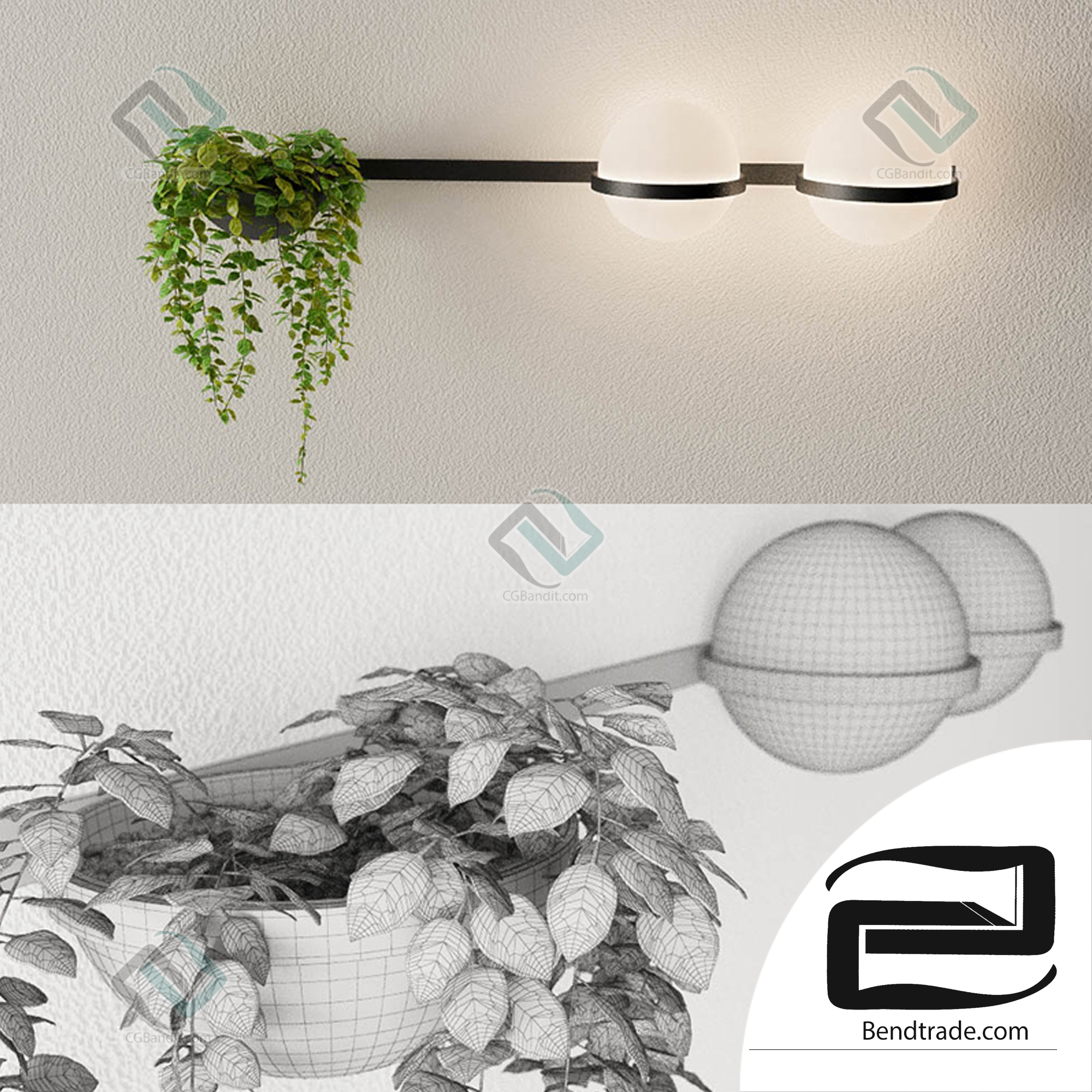 Lighting PALMA Vibia pendant lamp with plant